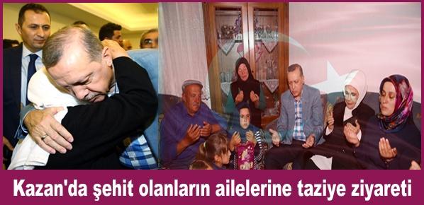 15 Temmuz Şehitlerinin Ailelerini Ziyaret Etti
