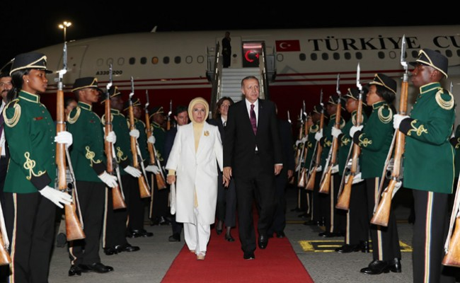 Erdoğan Güney Afrika Cumhuriyeti'nde