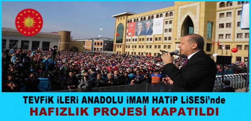 HAFIZLIK PROJESİ KAPATILDI