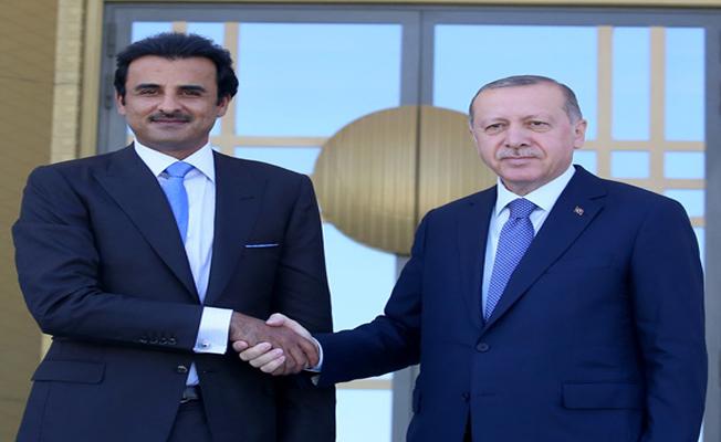 Başkan Erdoğan, Katar Emiri Şeyh Temim ile görüştü