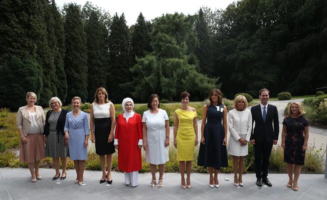 Emine Erdoğan, Brüksel'de lider eşleri ile bir araya geldi