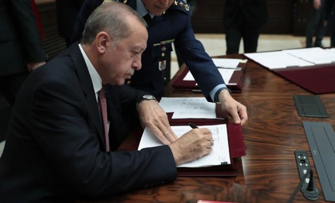 Erdoğan, Yüksek Askerî Şûra kararlarını imzaladı
