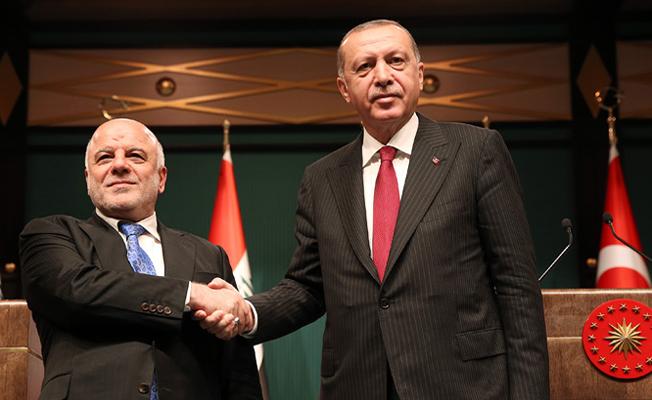 Irak Başbakanı El-İbadi Cumhurbaşkanlığı Külliyesinde