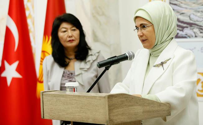 Emine Erdoğan, Cengiz Aytmatov Salonu'nun açılış törenine katıldı