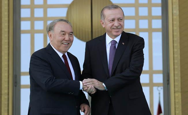 Kazakistan Cumhurbaşkanı Nazarbayev Türkiye'de