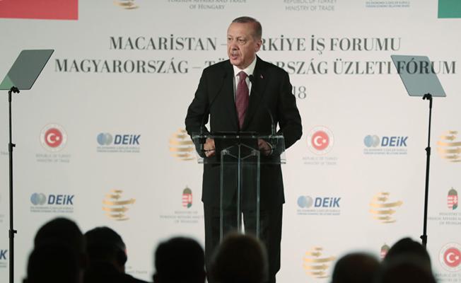 Başkan Erdoğan, Türkiye-Macaristan İş Forumu'na katıldı.