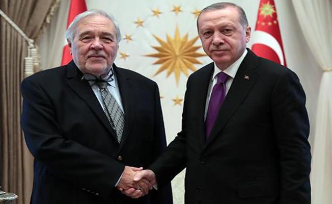 Cumhurbaşkanı Erdoğan,Prof. Dr. İlber Ortaylı'yı kabul etti