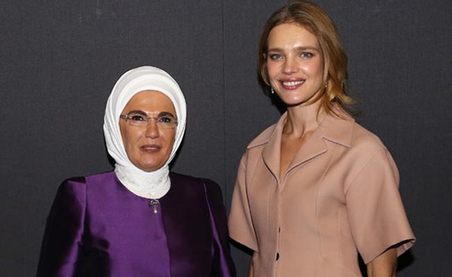 Emine Erdoğan, ELBI'nin kurucu ortağı Vodianova ile görüştü