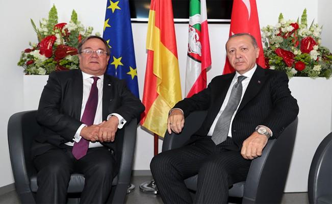 Erdoğan, Kuzey Ren Vestfalya Başbakanı Laschet'i kabul etti