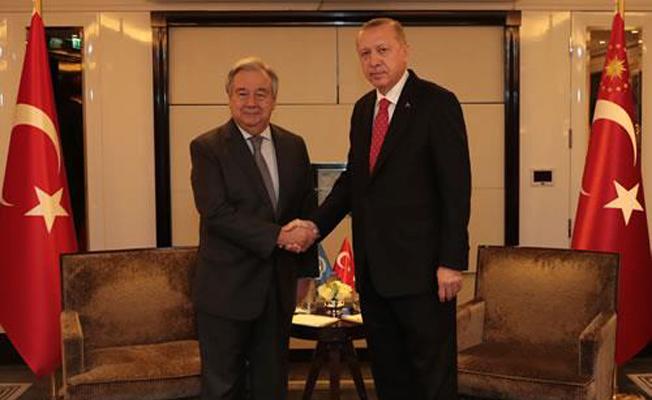 BM Genel Sekreteri Guterres ile görüştü