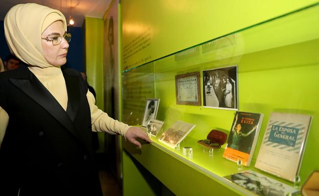 Emine Erdoğan, başkent Buenos Aires'te Evita Müzesi'ni ziyaret etti.