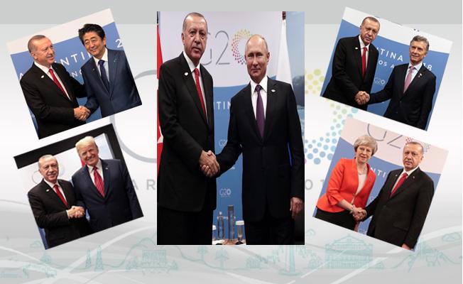 G20 Liderler Zirvesi'nde Dünya liderleri ile görüştü