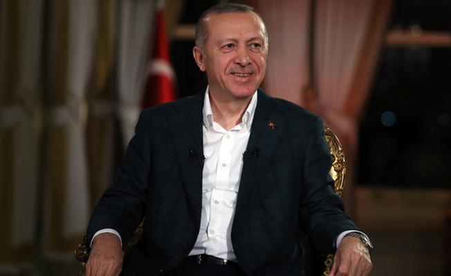 """Erdoğan, TRT'nin """"Cumhurbaşkanı Özel"""" programına konuk oldu."""