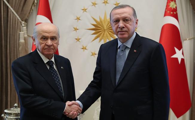 MHP Genel Başkanı Bahçeli'yi kabul etti