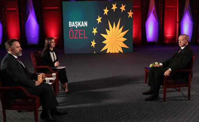 Cumhurbaşkanı Erdoğan, 24 TV ve TV 360 ortak yayınına katıldı