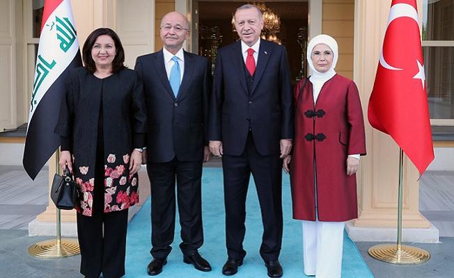 Irak Cumhurbaşkanı Salih'i Türkiye'de