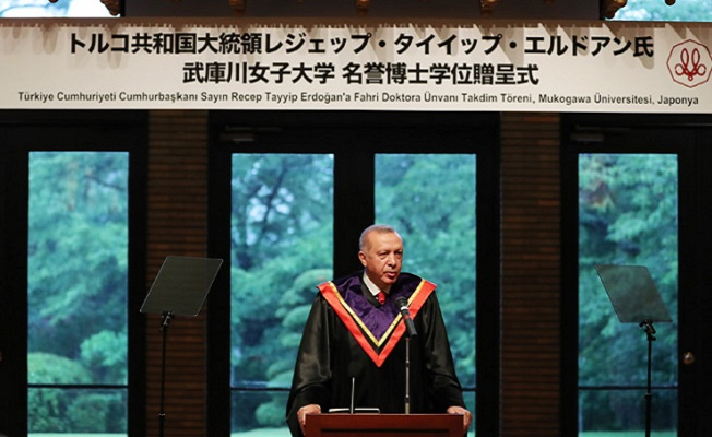 Başkan Erdoğan'a Japonya'da fahri doktora
