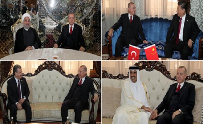 Başkan Erdoğan Tacikistan'da ikili temaslarda bulundu
