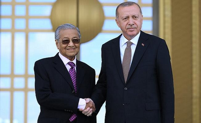 Malezya Başbakanı Mahathir Muhammed ile Cumhurbaşkanlığı Külliyesinde