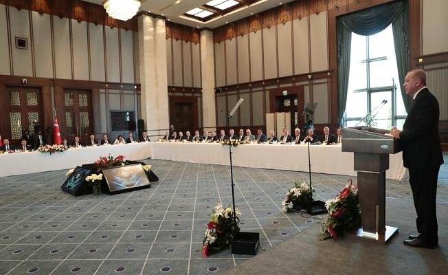 Büyükşehir belediye başkanları Cumhurbaşkanlığı Külliyesinde