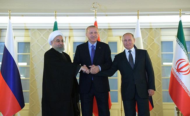 Türkiye-Rusya-İran Üçlü Zirvesi Çankaya Köşkünde toplandı