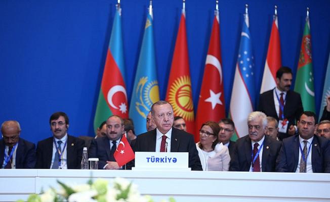Azerbaycan'da Türk Konseyi Zirvesi'ne katıldı