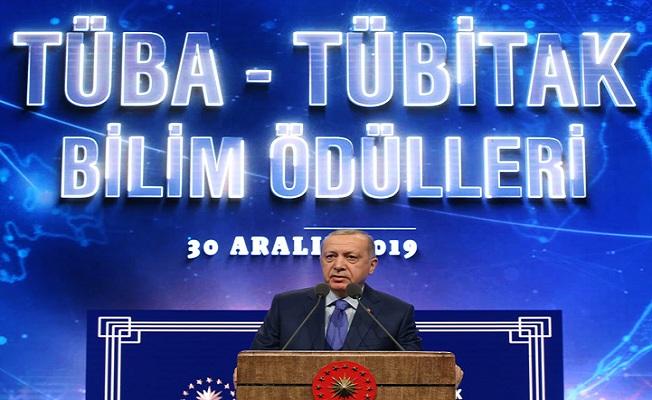 Erdoğan, TÜBİTAK ve TÜBA Ödül Töreni'nde