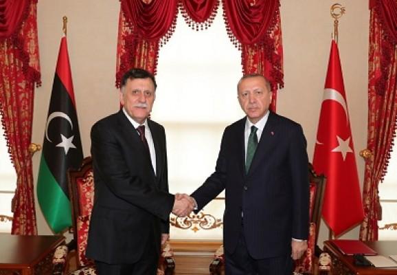Başkan Erdoğan,  Sarraj ile görüştü