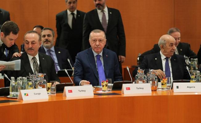 Berlin'de düzenlenen Libya konulu zirveye katıldı