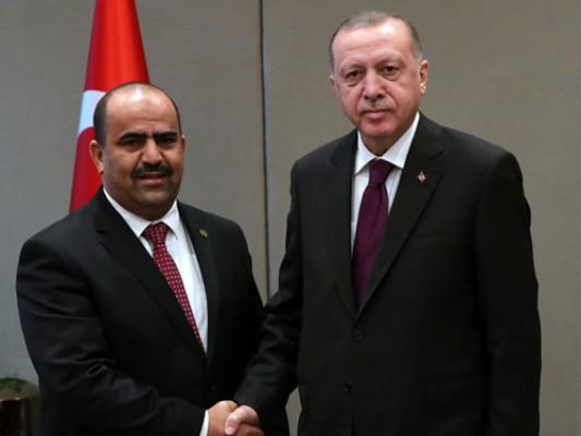 Erdoğan, Cezayir Ulusal Halk Meclisi Başkanı Chenine'i kabul etti