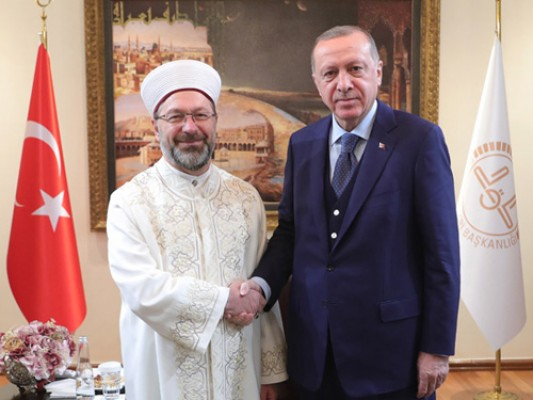 Cumhurbaşkanı Erdoğan, Diyanet İşleri Başkanlığını ziyaret etti