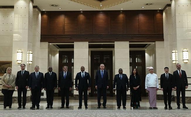 Cumhurbaşkanı Erdoğan'ın büyükelçi kabulleri
