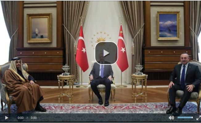 Erdoğan, Katar Başbakan Yardımcısı'nı kabul etti