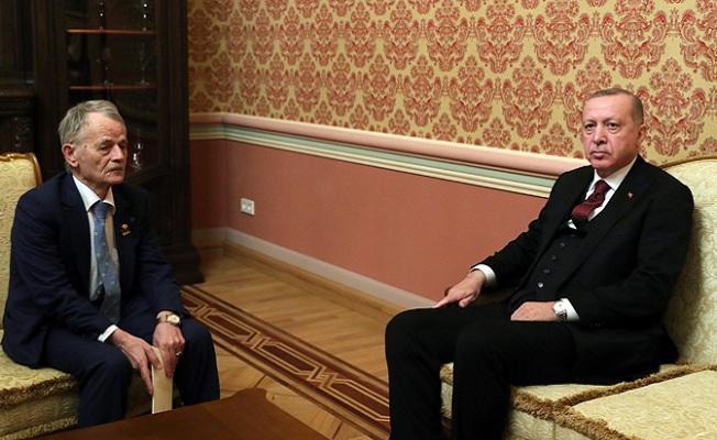 Erdoğan, Ukrayna'da Kırım Tatarlarının lideri Kırımoğlu'nu kabul etti