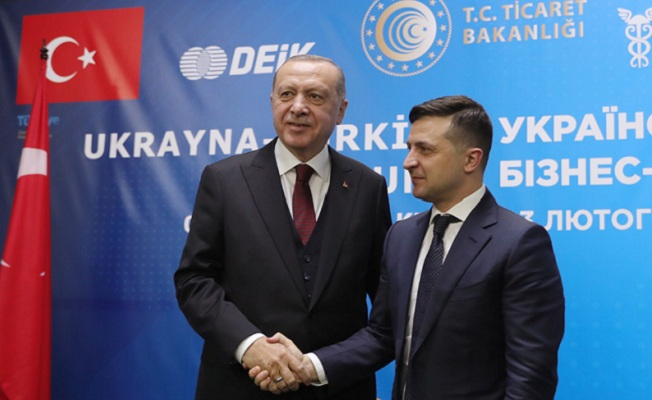 Erdoğan, Ukrayna-Türkiye İş Forumu'na katıldı
