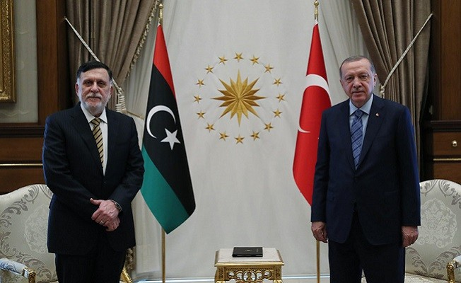 Cumhurbaşkanı Erdoğan Serrac ile bir araya geldi