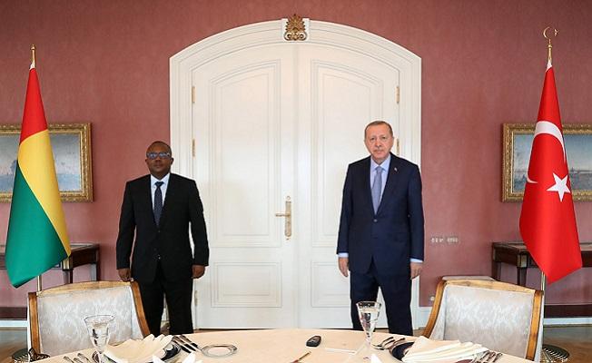 Erdoğan, Gine Bissau Cumhurbaşkanı Embalo ile görüştü