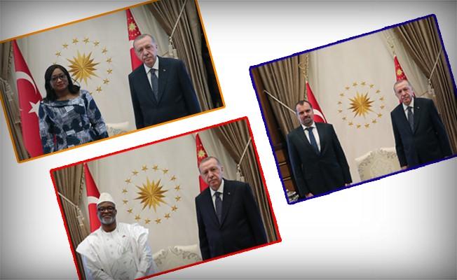 Cumhurbaşkanı Erdoğan'a Büyükelçilerden güven mektubu takdimi