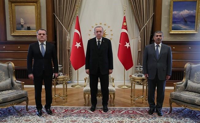 Azerbaycan Dışişleri Bakanı Bayramov'u kabul etti