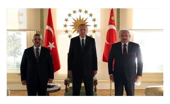Erdoğan Halid el-Meşri'yi kabul etti