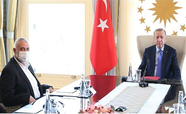Erdoğan, Hamas Siyasi Büro Başkanı Heniyye'yi kabul etti