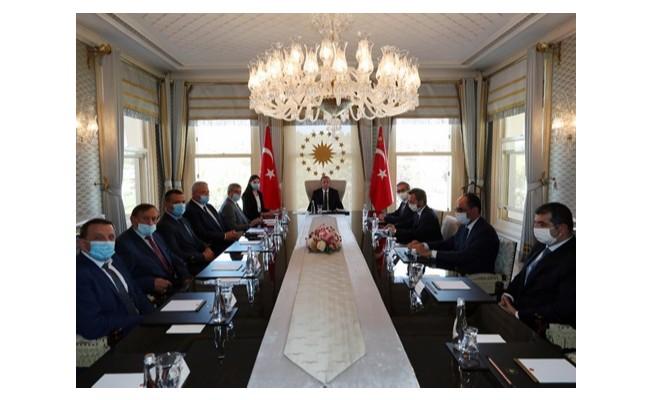 Erdoğan, Ukrayna Başbakan Yardımcısı Urusky'i kabul etti