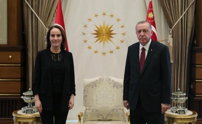 Cumhurbaşkanı Erdoğan, Parlamentolararası Birlik Başkanı Barron'u kabul etti