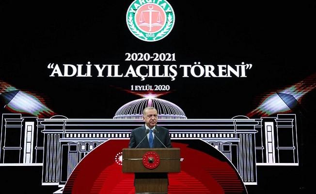 Erdoğan, 2020-2021 Adli Yıl Açılış Törenine katıldı