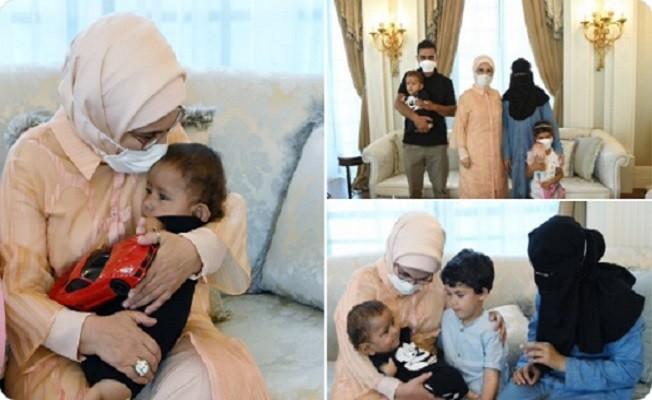 Suriyeli Muhammed bebek, Emine Erdoğan'ın misafiri oldu