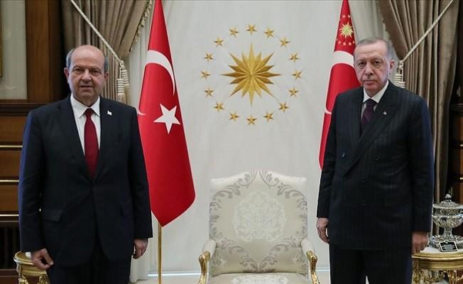 Cumhurbaşkanı Erdoğan, KKTC Başbakanı Tatar'ı kabul etti