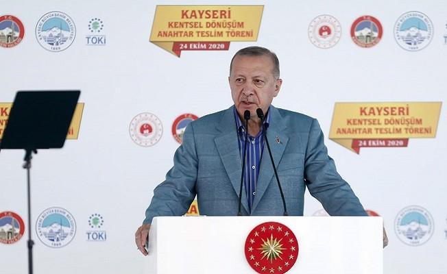 Erdoğan: Türkiye, sınırlarının dibinde terör devleti kurulmasına asla izin vermeyecektir