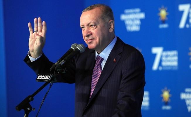 Başkan Erdoğan'dan AK Parti Kocaeli 7. Olağan İl Kongresi'nde önemli mesajlar