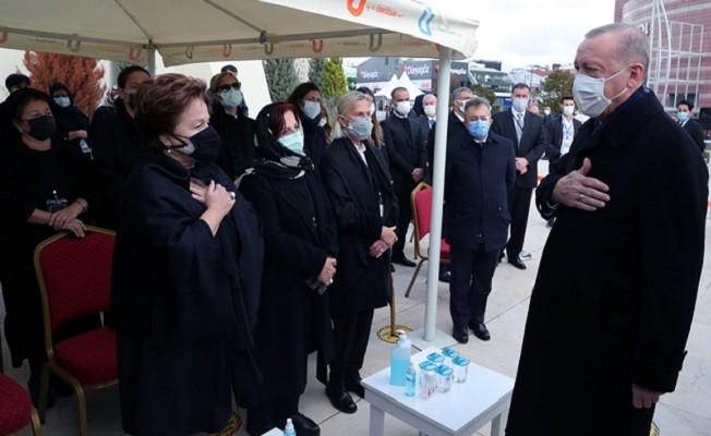 Başkan Erdoğan Mesut Yılmaz'ın cenaze törenine katıldı.