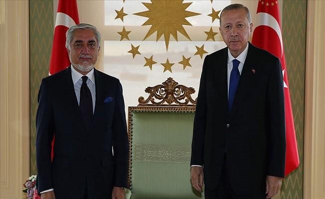 Cumhurbaşkanı Erdoğan, Afganistan Milli Uzlaşı Yüksek Konseyi Başkanı Abdullah'ı kabul etti